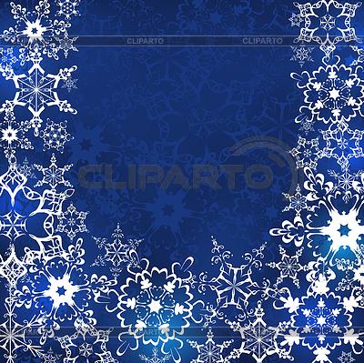 Zimowe niebieskie tło z płatki śniegu | Klipart wektorowy |ID 4401549