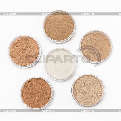 Lose kosmetische Pulver in Gläsern | Foto mit hoher Auflösung |ID 4164726
