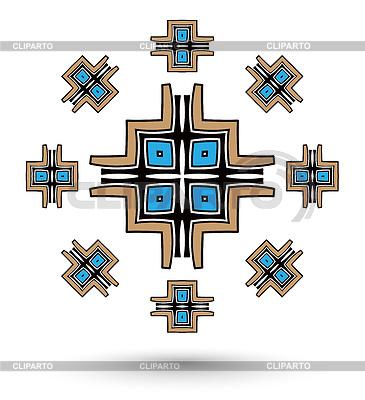 Ацтекский крест мандала | Иллюстрация большого размера |ID 4312944
