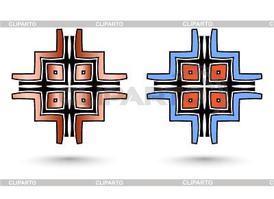 Zwei abstrakte inca Quer | Illustration mit hoher Auflösung |ID 4312947
