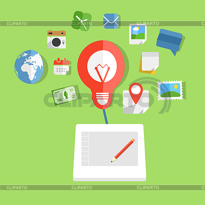 Moderne Web-Technik-Konzept | Stock Vektorgrafik |ID 4323742