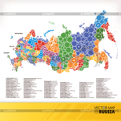Map of Russia | Klipart wektorowy |ID 4409647