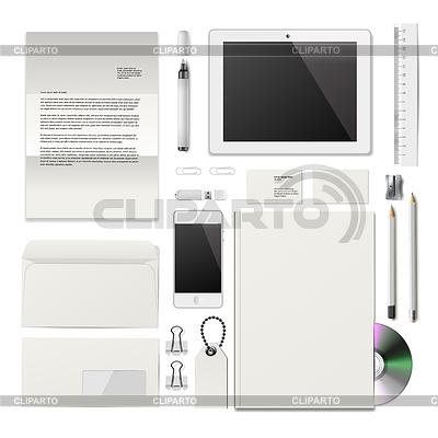 Weiß Corporate ID Mockup   Stock Vektorgrafik  ID 4272109