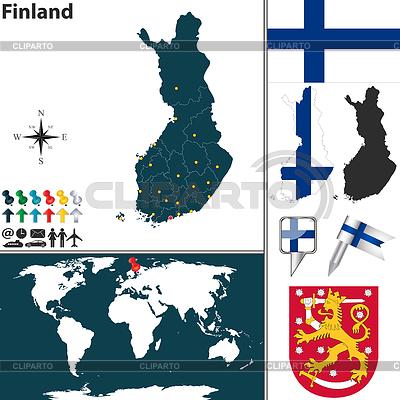 Карта Европы Векторная