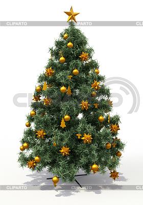 Weihnachtsbaum und Schnee | Illustration mit hoher Auflösung |ID 4101836