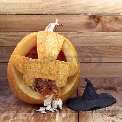 Pumpkin with hat | Foto stockowe wysokiej rozdzielczości |ID 4432672
