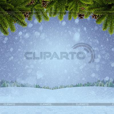 Streszczenie zimowych i Xmas tła dla projektu | Foto stockowe wysokiej rozdzielczości |ID 4100799