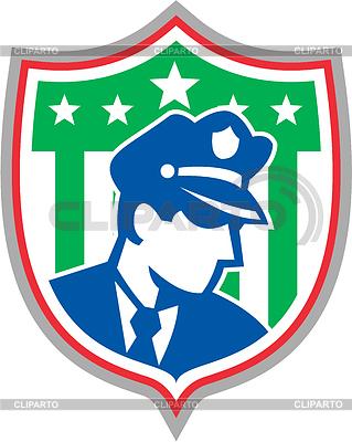 Ochrona Policjant Tarcza | Stockowa ilustracja wysokiej rozdzielczości |ID 4167909