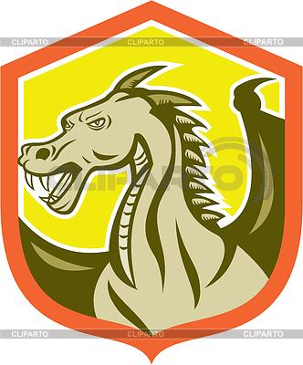 Green Dragon Leiter Schild Cartoon | Stock Vektorgrafik |ID 4324519