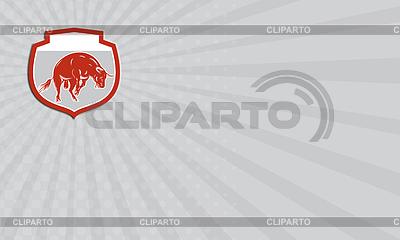 Визитная карточка Бешеный бык Прыжки Атакующий Штурмовой | Иллюстрация большого размера |ID 4393056