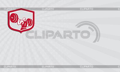 Visitenkarten-Lifting Gewichtheber Langhantel-Schild | Illustration mit hoher Auflösung |ID 4403799