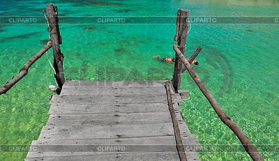 Ko Nang Yuan wyspa zielona woda, Tajlandia | Foto stockowe wysokiej rozdzielczości |ID 4124738