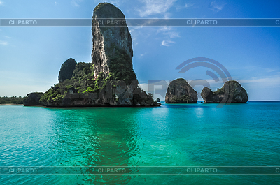 Phra Nang Beach, Thailand, Krabi Province, Panorami | Foto stockowe wysokiej rozdzielczości |ID 4128740