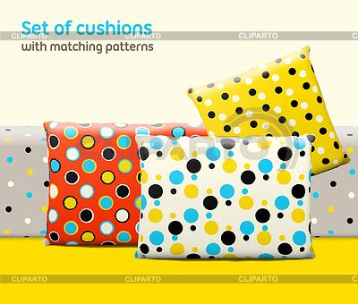 Set Kissen und Kopfkissen mit passenden nahtlosen | Stock Vektorgrafik |ID 4271548