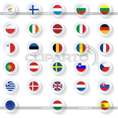 Europa union Flachlandfahnen Symbole Set | Illustration mit hoher Auflösung |ID 4105009