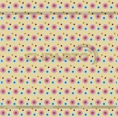 Вектор фон цветочный узор бесшовные
