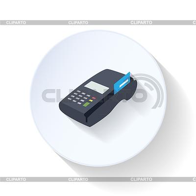 Kreditkarten-Terminal Flach Symbol | Stock Vektorgrafik |ID 4313348