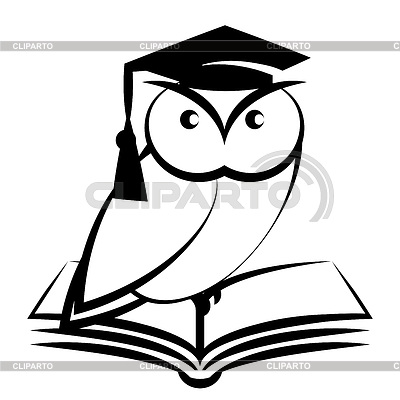 Eule mit College-Hut und Buch | Stock Vektorgrafik |ID 4113182