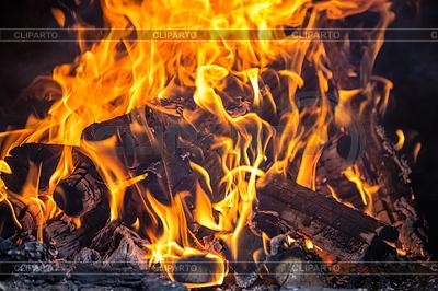Feuer im Kamin | Foto mit hoher Auflösung |ID 4271371