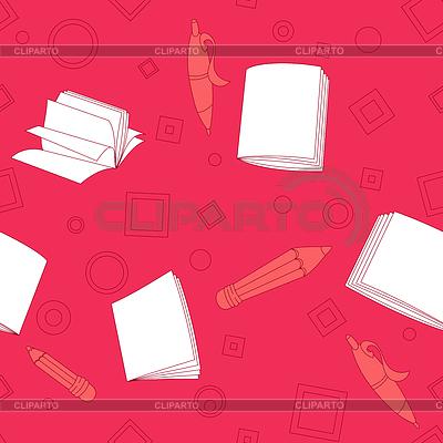 School notes seamless pattern on pink background | Klipart wektorowy |ID 4277341