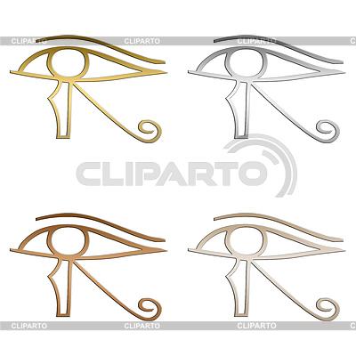 Eye of Horus Egyptian symbol | Stockowa ilustracja wysokiej rozdzielczości |ID 4134069