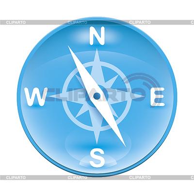 Blaue Windrose | Illustration mit hoher Auflösung |ID 4231176