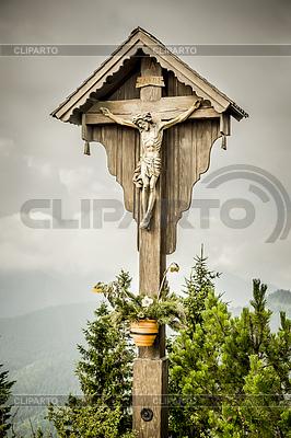 Jezus krzyż Herzogstand | Foto stockowe wysokiej rozdzielczości |ID 4255899