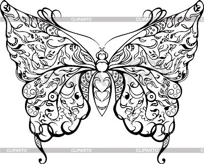 Schwarzer Spitze Schmetterling | Foto mit hoher Auflösung |ID 4307286