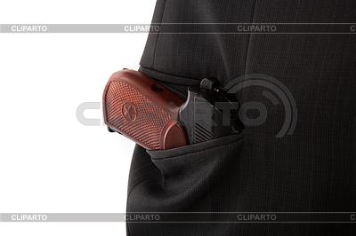 Makarov pistolet w kieszeni osoby | Foto stockowe wysokiej rozdzielczości |ID 4254496