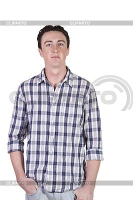 Handsome und trendigen Mode-Modell posiert auf Kamera | Foto mit hoher Auflösung |ID 4173765