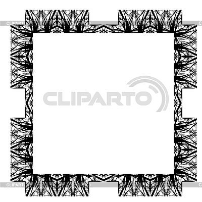 装饰抽象数字化设计 - 方形框架 | 高分辨率插图 |ID 4184539