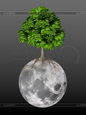 Leben auf dem Mond | Illustration mit hoher Auflösung |ID 4191276