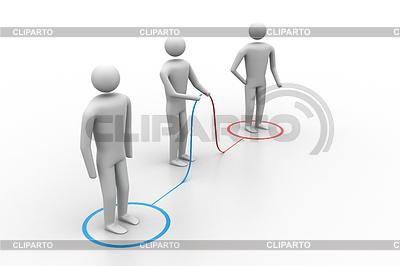 3d Menschen verbinden | Illustration mit hoher Auflösung |ID 4193069