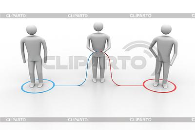 3d Menschen verbinden | Illustration mit hoher Auflösung |ID 4193070