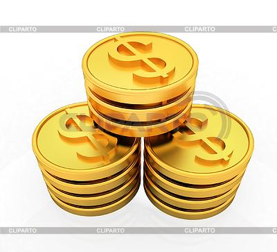 золотая печатка со знаком доллара