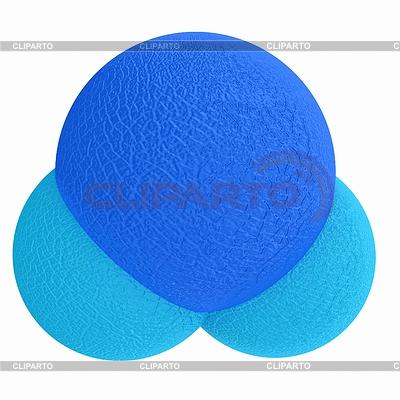 3d Leder Wassermolekül | Illustration mit hoher Auflösung |ID 4245948