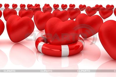Herzen und Leben-Gürtel. Konzept der lebensrettenden | Illustration mit hoher Auflösung |ID 4355968