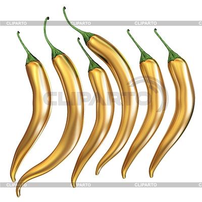 Hot Chili Symbole Set. Einzigartig | Illustration mit hoher Auflösung |ID 4355977