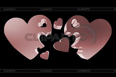 Концепция семьи 3d сердца | Иллюстрация большого размера |ID 4431448