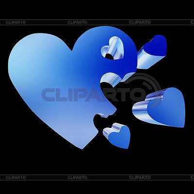 3d serca koncepcji rodziny | Stockowa ilustracja wysokiej rozdzielczości |ID 4431449