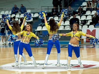 Cheerleaders groupe VIP Tanz | Foto mit hoher Auflösung |ID 4342516
