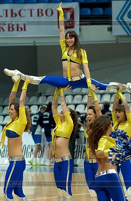 Cheerleaders groupe VIP Tanz | Foto mit hoher Auflösung |ID 4342517