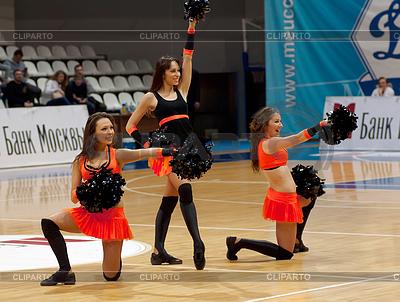 Cheerleaders groupe Tanz | Foto mit hoher Auflösung |ID 4342529
