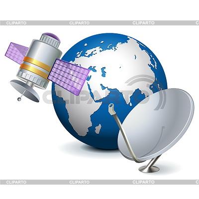 Vektor-Satelliten-Technologie-Konzept   Stock Vektorgrafik  ID 4357716