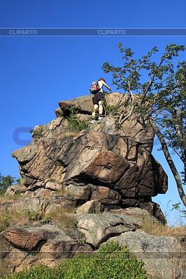 Geocaching oon den Felsen | Foto mit hoher Auflösung |ID 4394080
