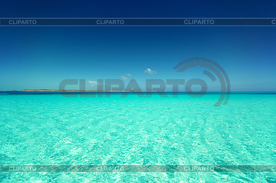 Blue sea or ocean and sky | High resolution stock photo |ID 4473830